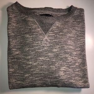 Light grey Marled Cropped Sweatshirt